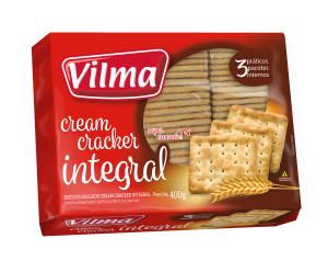 Biscoito Cream Cracker Integral 400g